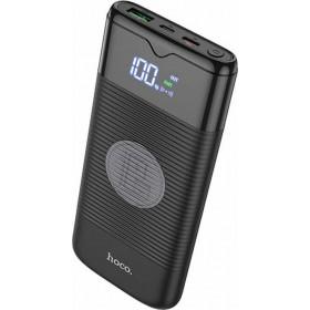 Hoco Powerbank J63 10000mAh Wireless Μαύρο