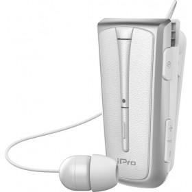 Στερεοφωνικό Ακουστικό Bluetooth iPro RH219s Retractable με Δόνηση Λευκό Ασημί