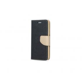 Μαύρη Χρυσή Θήκη Book Huawei Y6 II