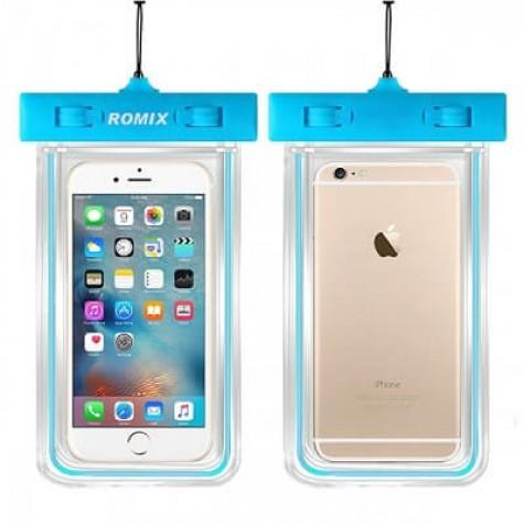 Αδιάβροχη Θήκη Κινητής Συσκευής Romix σε γαλάζιο χρώμα