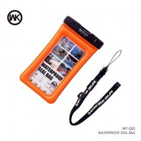 Αδιάβροχη Θήκη Κινητής Συσκευής WK Design σε πορτοκαλί χρώμα