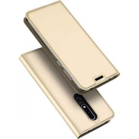 Χρυσή Θήκη Book Magnet Nokia 3.1 Plus