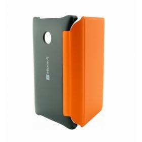 Θήκη Book Microsoft Lumia 435/532 Μαύρο-Πορτοκαλί