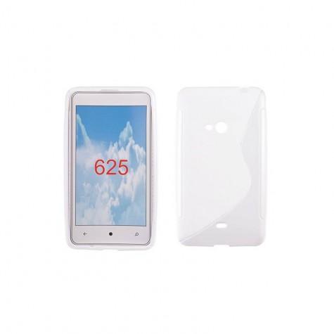 Θήκη Σιλικόνης Lumia 625 Λευκή