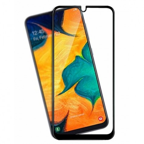 Samsung A20 2019 Black Fullface Tempered Glass 9H Προστασία Οθόνης