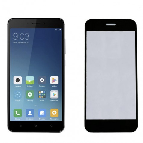Xiaomi Redmi 4X Black Fullface Tempered Glass 9H Προστασία Οθόνης