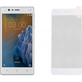Nokia 3 5,0'' White Fullface Tempered Glass 9H Προστασία Οθόνης
