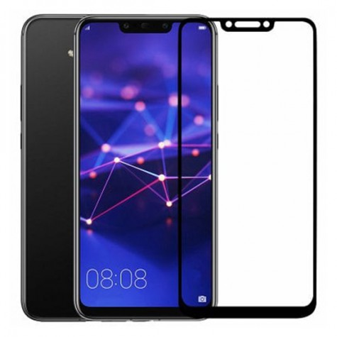 Huawei PSmart 2019 Black Fullface Tempered Glass 9H Προστασία Οθόνης