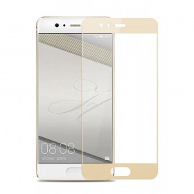 Huawei P10 Χρυσό Fullface Tempered Glass 9H Προστασία Οθόνης