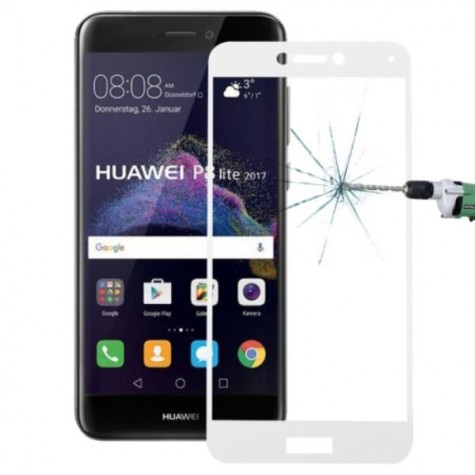 "Huawei P9 Lite 2017/P8 Lite 2017 Honor 8 Lite/Nova Lite 5,2"" White Fullface Tempered Glass 9H Προστασία Οθόνης"
