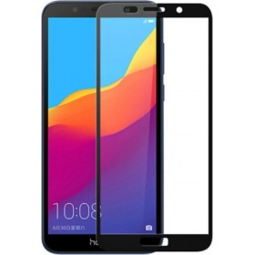 Huawei Y5 2018/Y5 Prime 2018 Black Fullface Tempered Glass 9H Προστασία Οθόνης