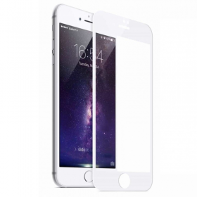 iPhone 6/6s Plus White Fullface Tempered Glass 9H Προστασία Οθόνης