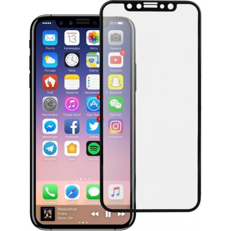 iPhone X/Xs Black Fullface Tempered Glass 9H Προστασία Οθόνης