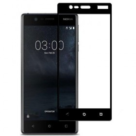 Nokia 3 5,0'' Black Fullface Tempered Glass 9H Προστασία Οθόνης