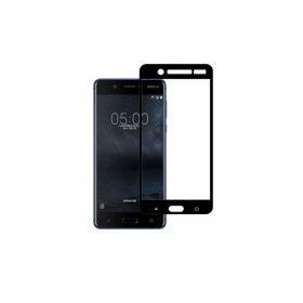 Nokia 5 5,2'' Fullface Black Tempered Glass 9H Προστασία Οθόνης