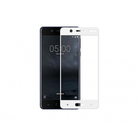 Nokia 5 5,2'' Fullface White Tempered Glass 9H Προστασία Οθόνης