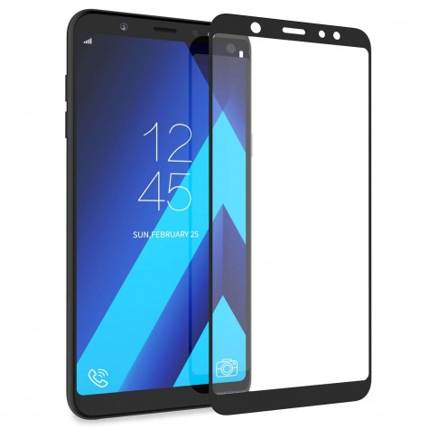 Samsung A7 2018 Black Fullface 10D Tempered Glass 9H Προστασία Οθόνης
