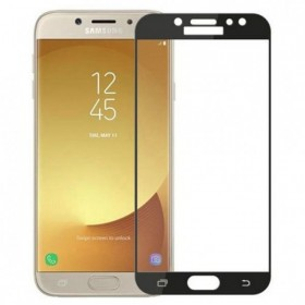Samsung J3 2017 Black Fullface Tempered Glass 9H Προστασία Οθόνης