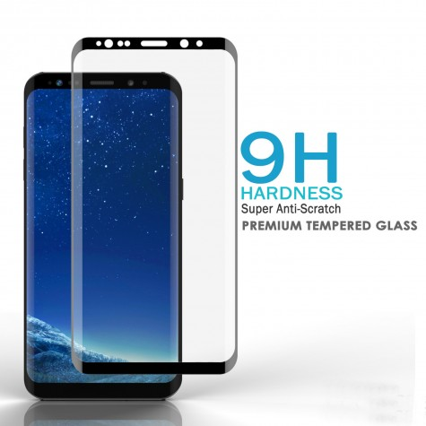 Samsung Note 8 Black Fullface Tempered Glass 9H Προστασία Οθόνης