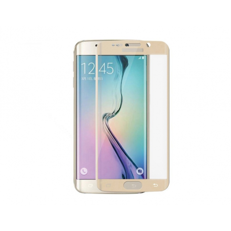 Samsung S7 Edge Gold Fullface Tempered Glass 9H Προστασία Οθόνης