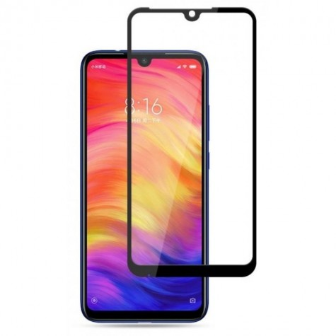 Xiaomi Redmi 7 Black Fullface Tempered Glass 9H Προστασία Οθόνης
