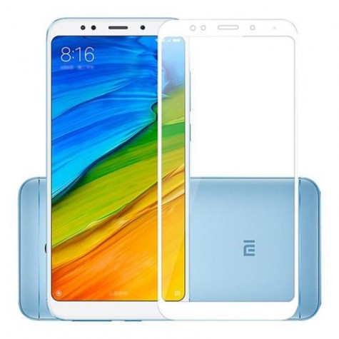 Xiaomi Redmi 5 White Fullface Tempered Glass 9H Προστασία Οθόνης