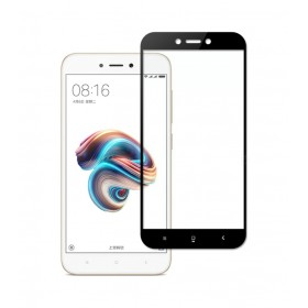 Xiaomi Redmi Note 5A Black Fullface Tempered Glass 9H Προστασία Οθόνης